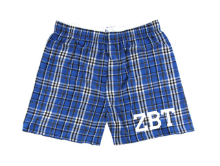 Zeta Beta Tau Flannel Boxer Shorts