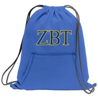 Zeta Beta Tau Fleece Sweatshirt Cinch Pack