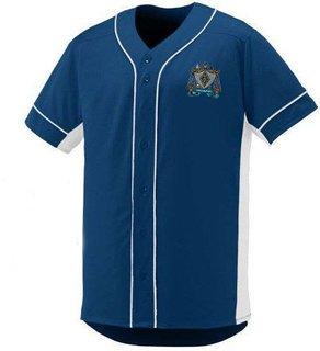 DISCOUNT-Zeta Beta Tau Fraternity Crest - Shield Slugger Baseball Jersey