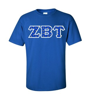 Zeta Beta Tau Fraternity Crest - Shield Twill Letter Tee