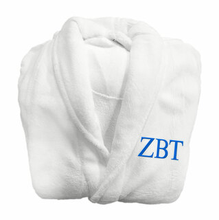 Zeta Beta Tau Fraternity Lettered Bathrobe