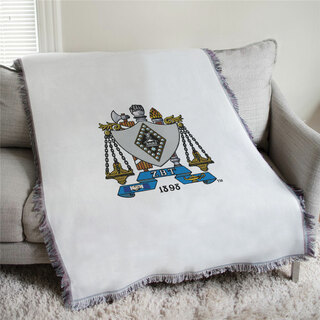 Zeta Beta Tau Full Color Crest Afghan Blanket Throw