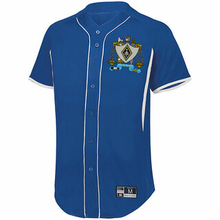 Zeta Beta Tau Game 7 Full-Button Baseball Jersey