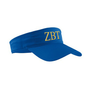 Zeta Beta Tau Greek Letter Visor