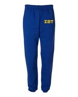 Zeta Beta Tau Greek Lettered Thigh Sweatpants