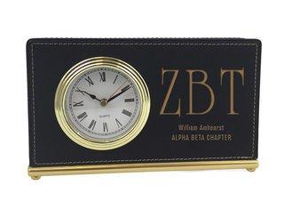 Zeta Beta Tau Horizontal Desk Clock