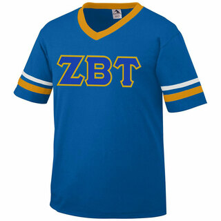 DISCOUNT-Zeta Beta Tau Jersey With Greek Applique Letters