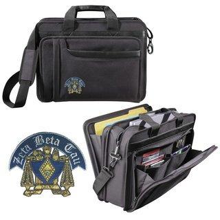 Zeta Beta Tau Crest Briefcase Attache
