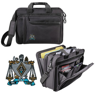 DISCOUNT-Zeta Beta Tau Crest - Shield Briefcase Attache