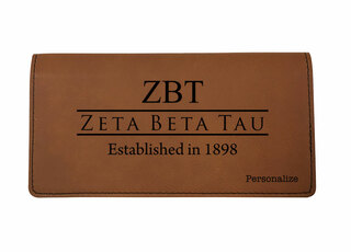 Zeta Beta Tau Leatherette Checkbook Cover