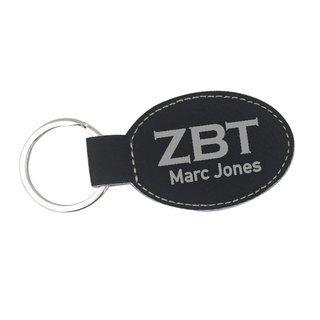 Zeta Beta Tau Leatherette Oval Keychain