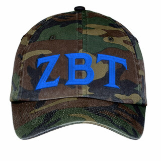 Zeta Beta Tau Lettered Camouflage Hat