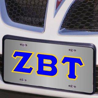 Zeta Beta Tau Lettered License Cover