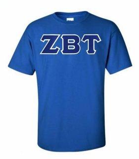 Zeta Beta Tau Lettered T-shirt - MADE FAST!