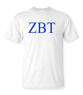 Zeta Beta Tau Lettered Tee - $9.95!
