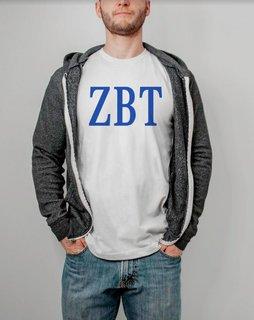 Zeta Beta Tau Lettered Tee - $14.95!