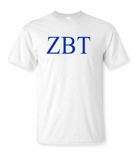 Zeta Beta Tau Lettered Tee - $9.95! - MADE FAST!
