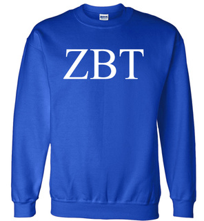 Zeta Beta Tau Lettered World Famous Greek Crewneck