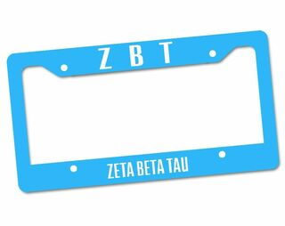 Zeta Beta Tau Custom License Plate Frame