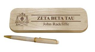 Zeta Beta Tau Maple Wood Pen Set