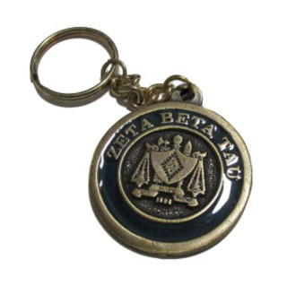 Zeta Beta Tau Metal Fraternity Key Chain