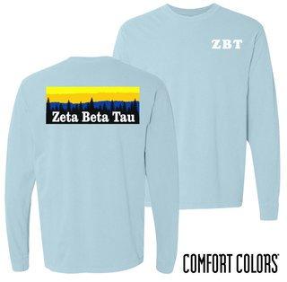 Zeta Beta Tau Outdoor Long Sleeve T-shirt - Comfort Colors