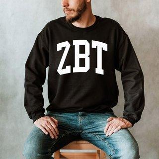 Zeta Beta Tau Arched Greek Letter Crewneck Sweatshirt