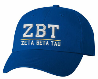 Zeta Beta Tau Old School Greek Letter Hat