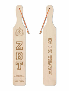 Zeta Beta Tau Old School Wood Greek Paddle