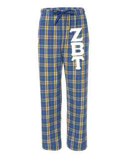 Zeta Beta Tau Pajamas Flannel Pant