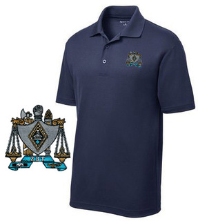 DISCOUNT-Zeta Beta Tau Emblem Polo