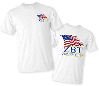 Zeta Beta Tau Patriot Limited Edition Tee- $15!