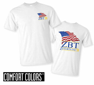Zeta Beta Tau Patriot  Limited Edition Tee - Comfort Colors