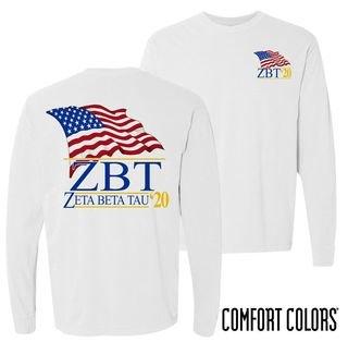 Zeta Beta Tau Patriot Long Sleeve T-shirt - Comfort Colors
