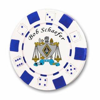 Zeta Beta Tau Poker Chips