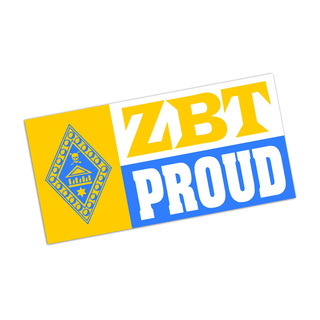 Zeta Beta Tau Proud Bumper Sticker - CLOSEOUT