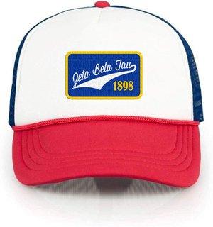 Zeta Beta Tau Red, White & Blue Trucker Hat