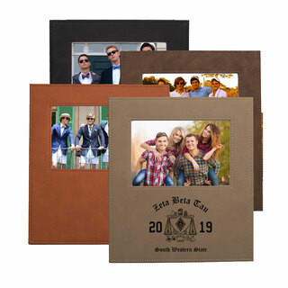 Zeta Beta Tau Saddle Photo Frame