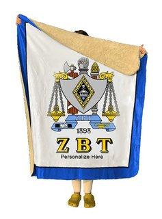 Zeta Beta Tau Sherpa Lap Blanket