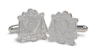 Zeta Beta Tau Sterling Silver Crest Cufflinks