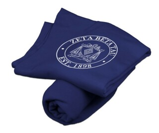 Zeta Beta Tau Sweatshirt Blanket