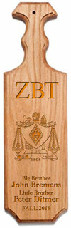 Zeta Beta Tau Traditional Greek Paddle