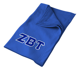 DISCOUNT-Zeta Beta Tau Twill Sweatshirt Blanket