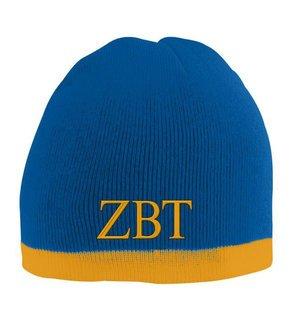 Zeta Beta Tau Two Tone Knit Beanie