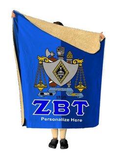 Zeta Beta Tau Two Tone Sherpa Lap Blanket