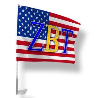Zeta Beta Tau USA Car Flag