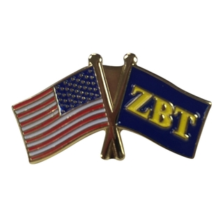 Zeta Beta Tau USA Flag Lapel Pin