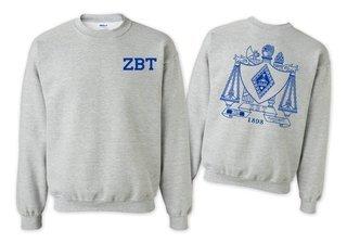 Zeta Beta Tau World Famous Crest - Shield Printed Crewneck Sweatshirt- $25!