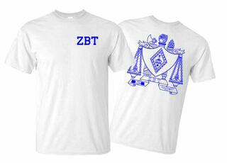 Zeta Beta Tau World Famous Crest - Shield Tee