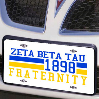 Zeta Beta Tau Year License Plate Cover